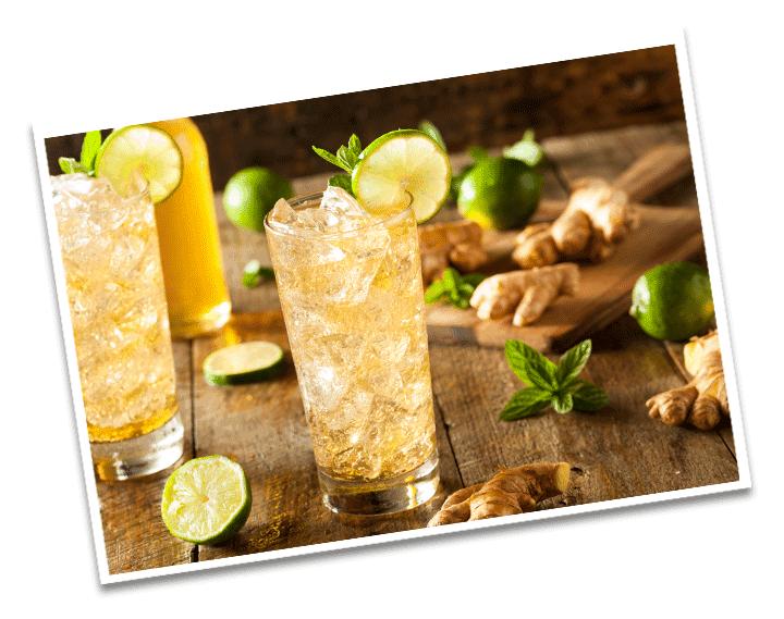 Ingwer Zitronen Limonade Detail