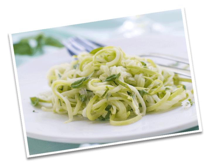 Zuchini Zitronen Spaghetti Detail