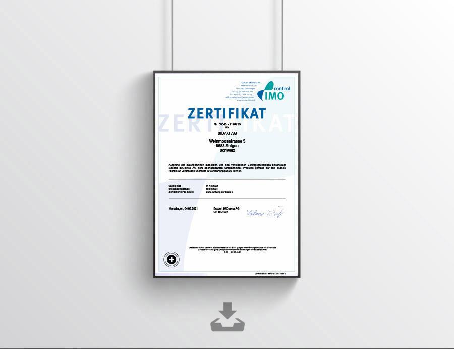 Imo zertifikat